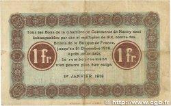 1 Franc FRANCE régionalisme et divers NANCY 1916 JP.087.08 TTB