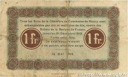 1 Franc FRANCE régionalisme et divers NANCY 1916 JP.087.09 TB