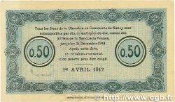 50 Centimes FRANCE régionalisme et divers Nancy 1917 JP.087.12 SUP+