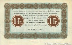 1 Franc FRANCE régionalisme et divers Nancy 1917 JP.087.13 TTB+