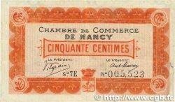 50 Centimes FRANCE régionalisme et divers NANCY 1917 JP.087.14 TTB