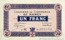 1 Franc FRANCE régionalisme et divers NANCY 1917 JP.087.17 TTB+