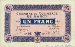 1 Franc FRANCE régionalisme et divers NANCY 1918 JP.087.18 TTB