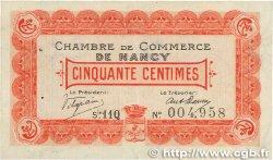50 Centimes FRANCE régionalisme et divers Nancy 1918 JP.087.20 TTB+