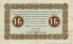 1 Franc FRANCE régionalisme et divers NANCY 1918 JP.087.21 TTB