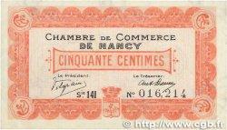 50 Centimes FRANCE régionalisme et divers NANCY 1918 JP.087.22 TTB+