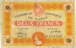 2 Francs FRANCE régionalisme et divers NANCY 1919 JP.087.32 B