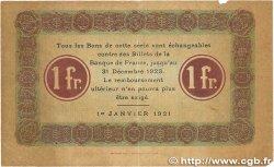 1 Franc FRANCE régionalisme et divers NANCY 1921 JP.087.44 TB