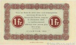 1 Franc FRANCE régionalisme et divers NANCY 1921 JP.087.50 pr.NEUF