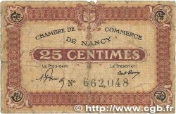 25 Centimes FRANCE régionalisme et divers NANCY 1918 JP.087.56 B