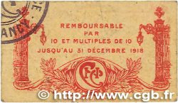 25 Centimes FRANCE régionalisme et divers NANCY 1918 JP.087.64 TB