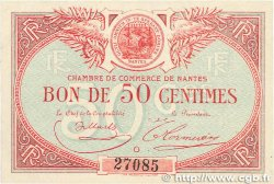 50 Centimes FRANCE régionalisme et divers NANTES 1918 JP.088.13 SUP