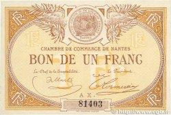 1 Franc FRANCE régionalisme et divers Nantes 1918 JP.088.14 SUP+