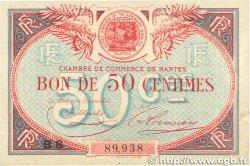50 Centimes FRANCE régionalisme et divers Nantes 1918 JP.088.24 TTB+