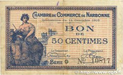 50 Centimes FRANCE régionalisme et divers NARBONNE 1916 JP.089.09 pr.TTB