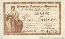 50 Centimes FRANCE régionalisme et divers NARBONNE 1919 JP.089.17 pr.NEUF
