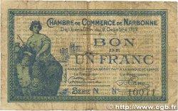 1 Franc FRANCE régionalisme et divers NARBONNE 1919 JP.089.18 B