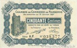 50 Centimes FRANCE régionalisme et divers Narbonne 1921 JP.089.19 SUP