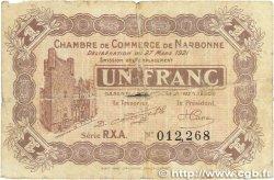 1 Franc FRANCE régionalisme et divers Narbonne 1921 JP.089.28 B
