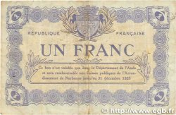 1 Franc FRANCE régionalisme et divers Narbonne 1922 JP.089.32 TTB