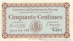 50 Centimes FRANCE régionalisme et divers NEVERS 1915 JP.090.05 SUP