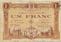 1 Franc FRANCE regionalism and various Nevers 1920 JP.090.17 F