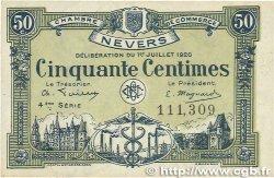50 Centimes FRANCE régionalisme et divers NEVERS 1920 JP.090.18 TTB