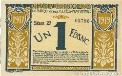 1 Franc FRANCE régionalisme et divers Nice 1917 JP.091.05 TTB+