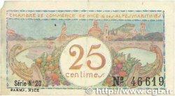 25 Centimes FRANCE régionalisme et divers NICE 1918 JP.091.18 B