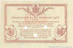 50 Centimes FRANCE régionalisme et divers NIORT 1915 JP.093.02 TTB+