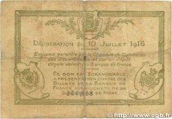 1 Franc FRANCE régionalisme et divers NIORT 1916 JP.093.08 B