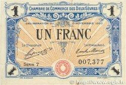 1 Franc FRANCE régionalisme et divers NIORT 1920 JP.093.11 TTB+