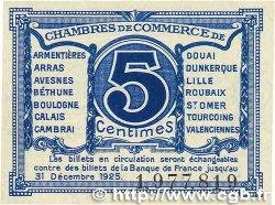 5 Centimes FRANCE régionalisme et divers Nord et Pas-De-Calais 1918 JP.094.01 NEUF