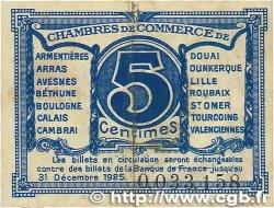 5 Centimes FRANCE régionalisme et divers Nord et Pas-De-Calais 1918 JP.094.01 TTB