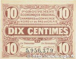 10 Centimes FRANCE régionalisme et divers Nord et Pas-De-Calais 1918 JP.094.02 NEUF