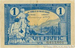 1 Franc FRANCE régionalisme et divers Nord et Pas-De-Calais 1918 JP.094.05 pr.TTB