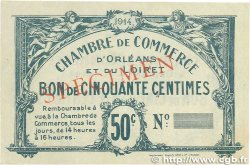 50 Centimes FRANCE régionalisme et divers Orléans 1914 JP.095.01 TTB+