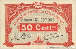 50 Centimes FRANCE régionalisme et divers Orléans 1916 JP.095.08 SUP