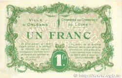 1 Franc FRANCE régionalisme et divers Orléans 1916 JP.095.12 SUP