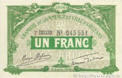1 Franc FRANCE régionalisme et divers ORLÉANS 1916 JP.095.12var. TTB+