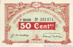 50 Centimes FRANCE régionalisme et divers ORLÉANS 1917 JP.095.16 pr.SPL