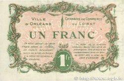 1 Franc FRANCE régionalisme et divers Orléans 1917 JP.095.17 SUP