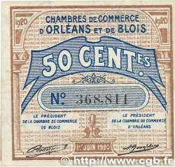 50 Centimes  FRANCE regionalism and various Orléans et Blois 1920 JP.096.01