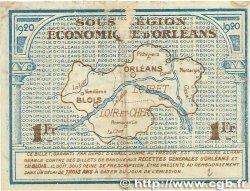 1 Franc FRANCE régionalisme et divers ORLÉANS et BLOIS 1920 JP.096.03 TB