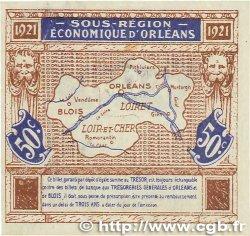 50 Centimes FRANCE régionalisme et divers ORLÉANS et BLOIS 1921 JP.096.05 TTB+