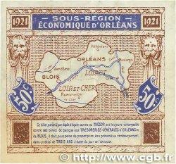 50 Centimes FRANCE régionalisme et divers Orléans et Blois 1921 JP.096.05 TTB