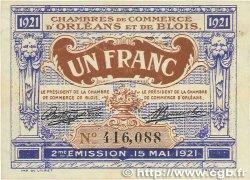 1 Franc FRANCE régionalisme et divers ORLÉANS et BLOIS 1921 JP.096.07 TTB+