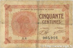 50 Centimes FRANCE régionalisme et divers PARIS 1920 JP.097.10 B