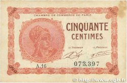50 Centimes FRANCE régionalisme et divers PARIS 1920 JP.097.10 TB
