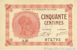 50 Centimes FRANCE régionalisme et divers PARIS 1920 JP.097.10 NEUF